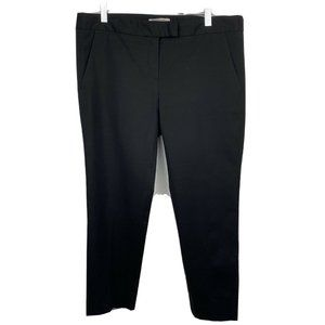 Gerard Darel Pants 8 Black Cropped Slim Leg Career